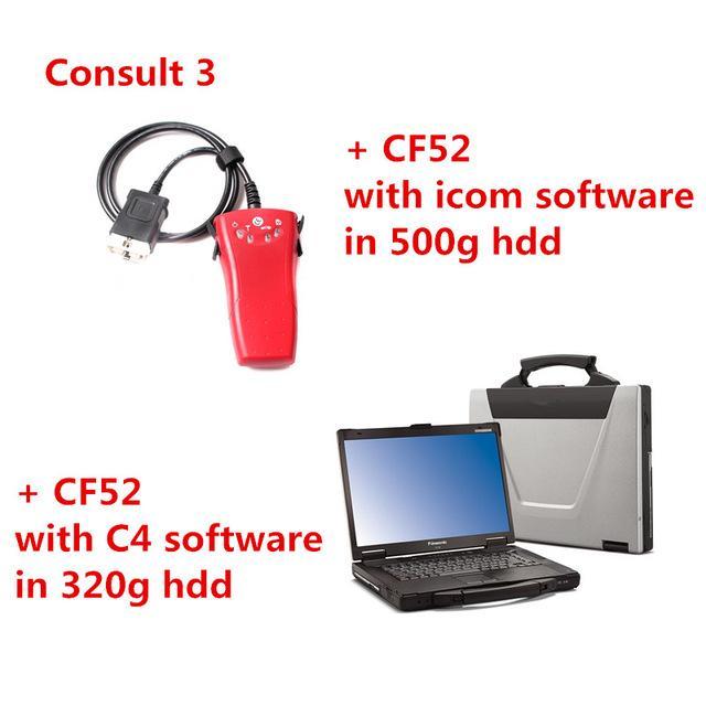 2019 Para Nissan Consult 3 III e Panasonic CF-52 CF52 Portátil Toughbook  Diagnóstico Laptop com C4 HDD e CF 52 com ICOM HDD