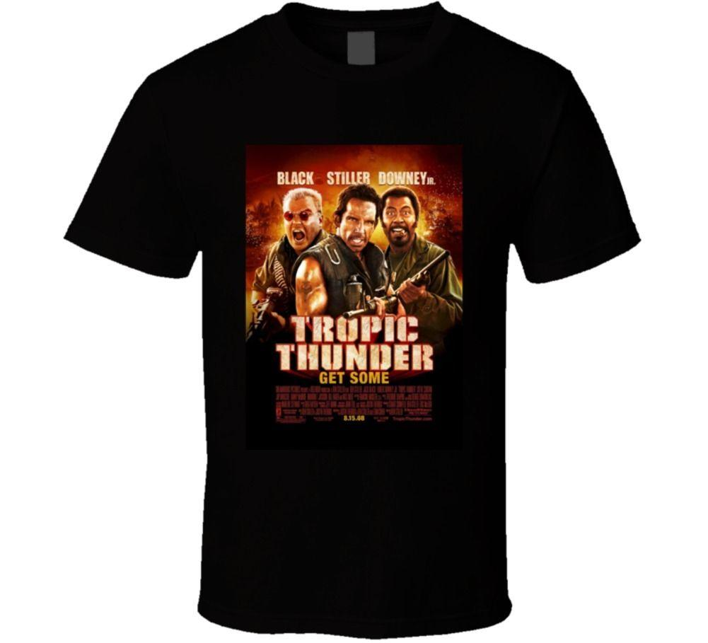 Tropic Thunder Cool 21st Century Comedy Classic Movie Poster Fan T Shirt