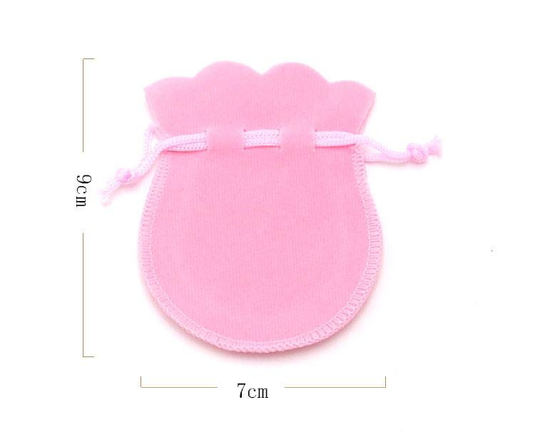 Wolesale7*9cm Gourd Shape Velvet Bag Green&Blue Gift Boxes Jewelry Packaging&Display Type Can be Customized Cheap