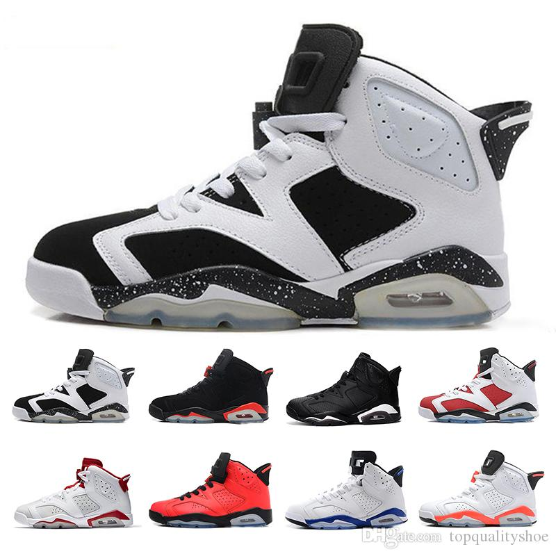 4aa97dde5f6420 6 6s Basketball Shoes Men Women Tinker UNC Blue Black Cat White ...