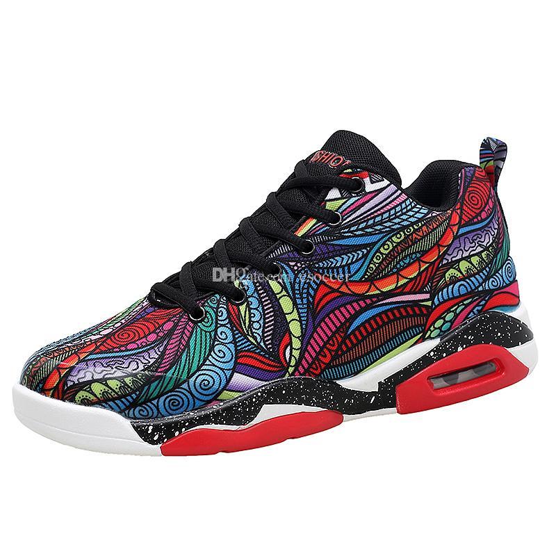 promo code f5401 84115 2019 Nuevos Zapatos Corrientes Para Hombres Mujeres Impresión Floral Zapatos  Deportivos Parejas Hombres Baloncesto Transpirable Unisex Niñas Zapatillas  ...