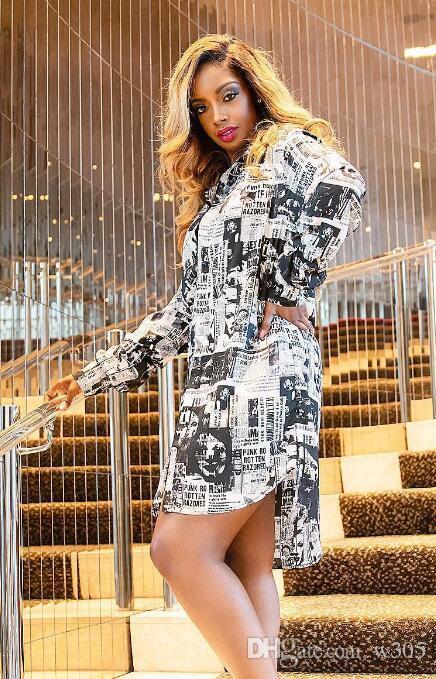 a770146d63 Compre Vestido De Camisa Con Cuello En V De Moda Para Mujer