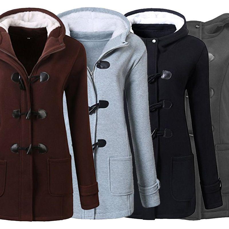 786961eaf150 Lady Large Woolen Overcoat Coat Surcoat Women Plus Size Solid Color ...