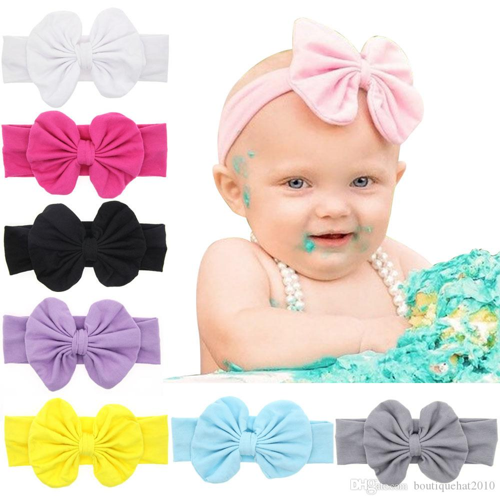 Baby Girl Headbands Turban Bandanas with Bow Soft Headband For Kids Girls Clothes Hair Accessories 8 Colors U-Pick