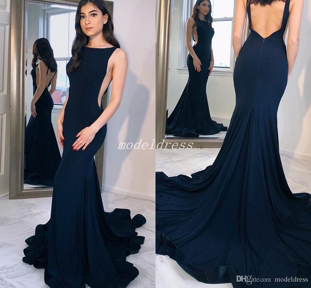 Backless Mermaid Prom Dress