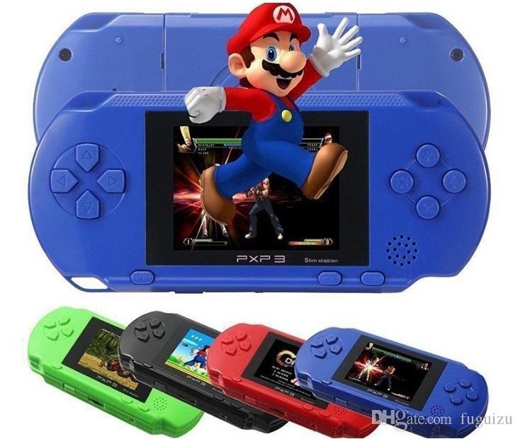 PXP3 portatile giocatori (16bit) gioco PVP Handheld video TV del gioco Console Stazione Slim Gioco schermo da 2.7 pollici con l'imballaggio al dettaglio