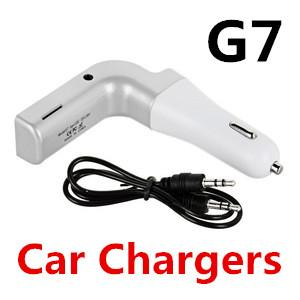 G7 L-Design New USB Wireless Bluetooth Car Charger MP3 Player FM/Flash Drive Transmitter Support Micro SD Card TF Hand-free Charging Cable