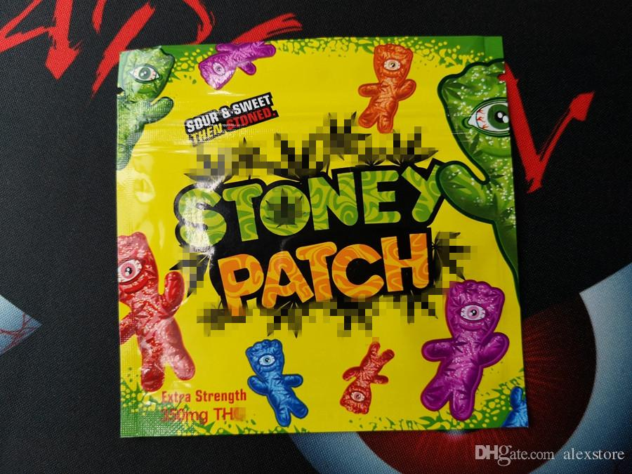 Stoney Patch Package Ziplock Gummies Smell Proof Bags Only Packaging Pack  Extra Strength 350mg Zipper Pouch Vape Carts