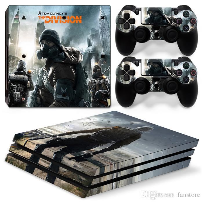 Fanstore Skin Sticker Protective Decal Cover Full Set D2 for Playstation PS4 Pro Console and 2 Remote Controller Cool Design