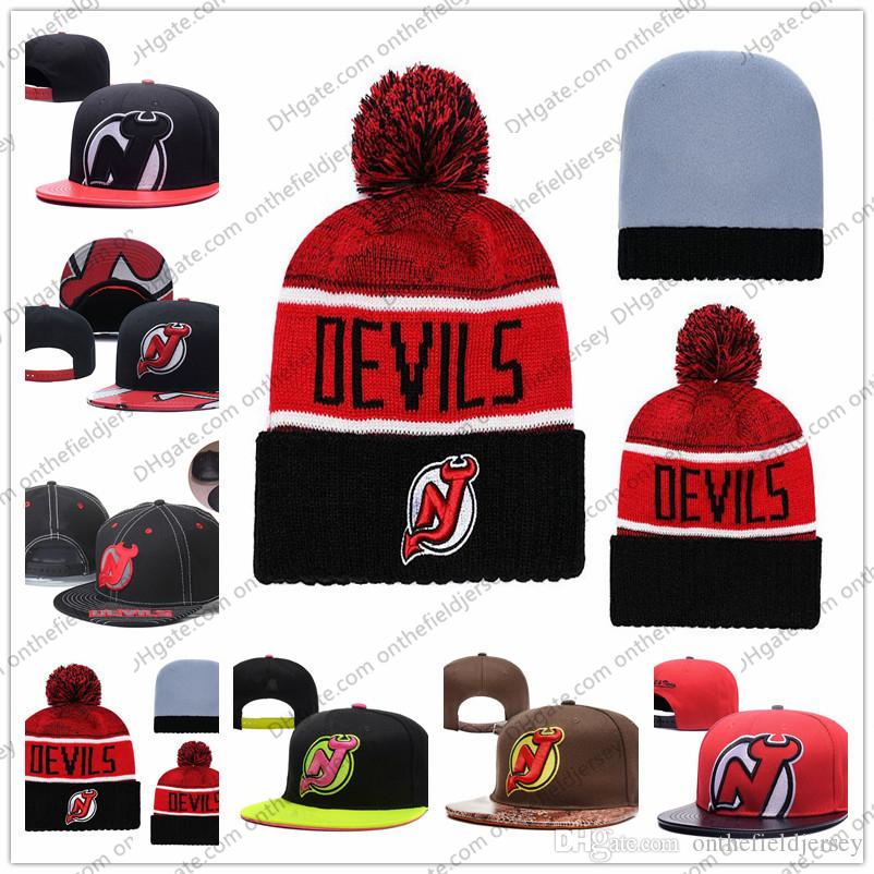 de1285cbebe Men s New Jersey Devils Ice Hockey Knit Beanie Embroidery Adjustable ...