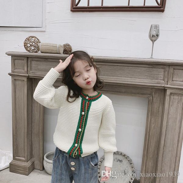 Baby Girl Cardigan 2019 spring Autumn Sweater Solid Cardigan For Girls Toddler Kids Cotton Sweater