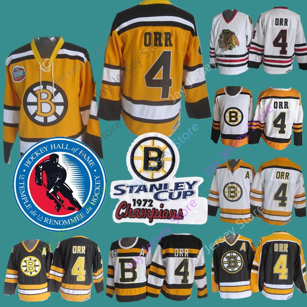 official photos 6882b cbd57 Bobby Orr Jersey CCM Vintage 1972 Stanley Cup Hall Of Fame Patch Boston  Bruins Chicago Blackhawks Winter Classic