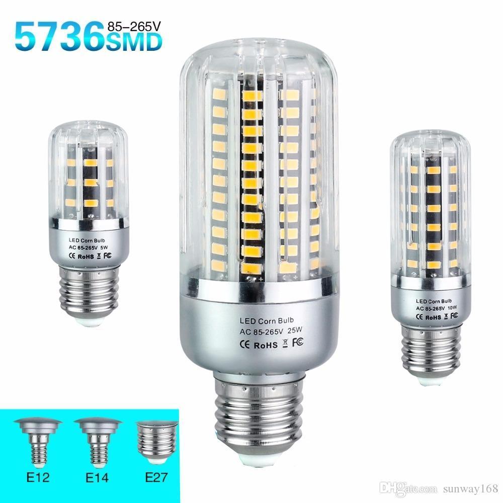 D'énergie 5736 Smd 10w Lampe Ampoules 85 20w Lampada À 15w 25w Diode E14 5w Lampes Led E27 265v Économie b7g6Yfy