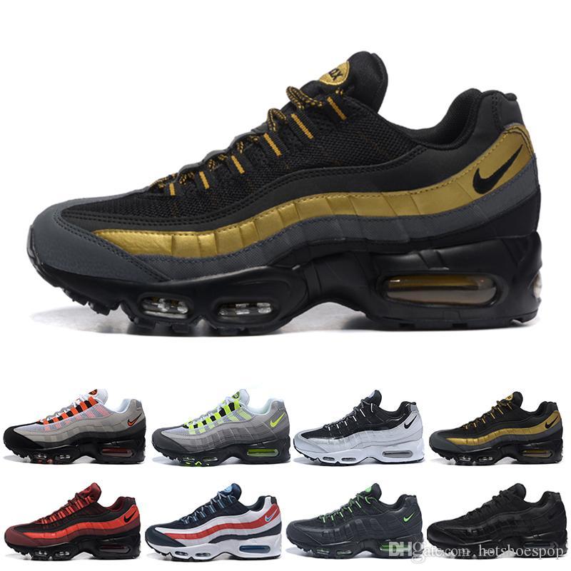 nike air max 95 airmax Envío de la gota zapatos al por mayor del corredor de los hombres aires Cojín OG zapatillas de deporte botas auténticas nuevo