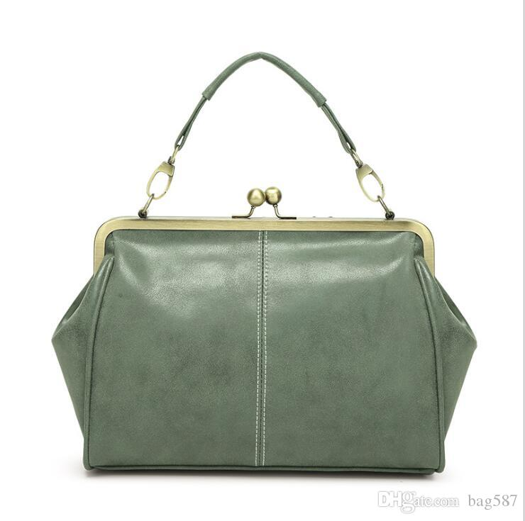 27a202338ea6 New Female Bag Hand Shoulder Shoulder Diagonal Female Bag Frosted Leather  Clip Bag British Retro Online with  17.49 Piece on Bag587 s Store