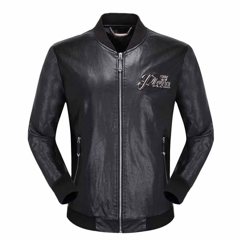 9c79e9ea7 2018 New Quality Men\'S Leather Jacket Black PP Suede Jacket Zipper ...