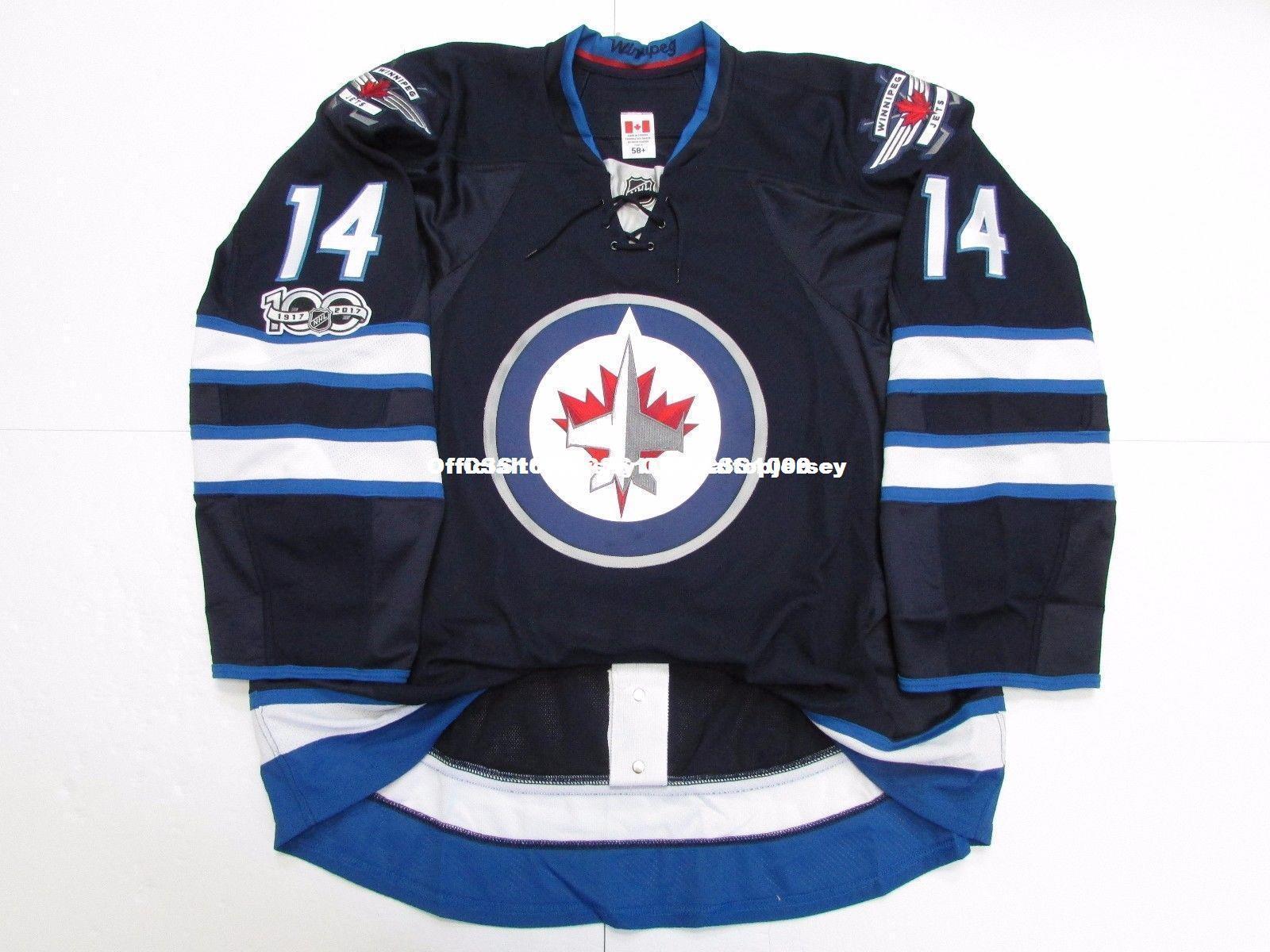 528f378f2 reduced 2019 cheap custom peluso 14 winnipeg jets home 100th anniversary  jersey stitch add any number