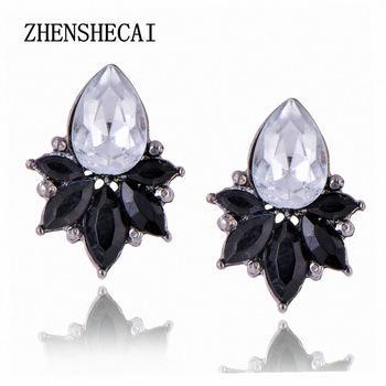 Mode runde ohrringbolzen einfache designer skulptur kristall ohrring für frauen mädchen schmuck geschenk vintage hohe qualität e0403