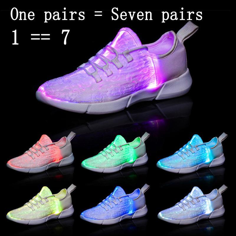 Size 25 46 Fiber Optic Backlight Led Shoes For Girls Boys Men Women New USB  Charging Luminous Sneakers Glowing Light Up Shoes Boys All Black Sneakers  Boys ... eeef4baa12