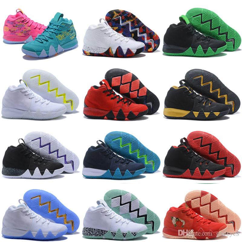 a2ef9399dc03 2019 2019 New Kyrie Irving IV 4 Confetti Men Sneakers High Ankle Irving  Basketball Zoom Championship Finals Sports Training Shoes Size 40 46 From  Goesyes
