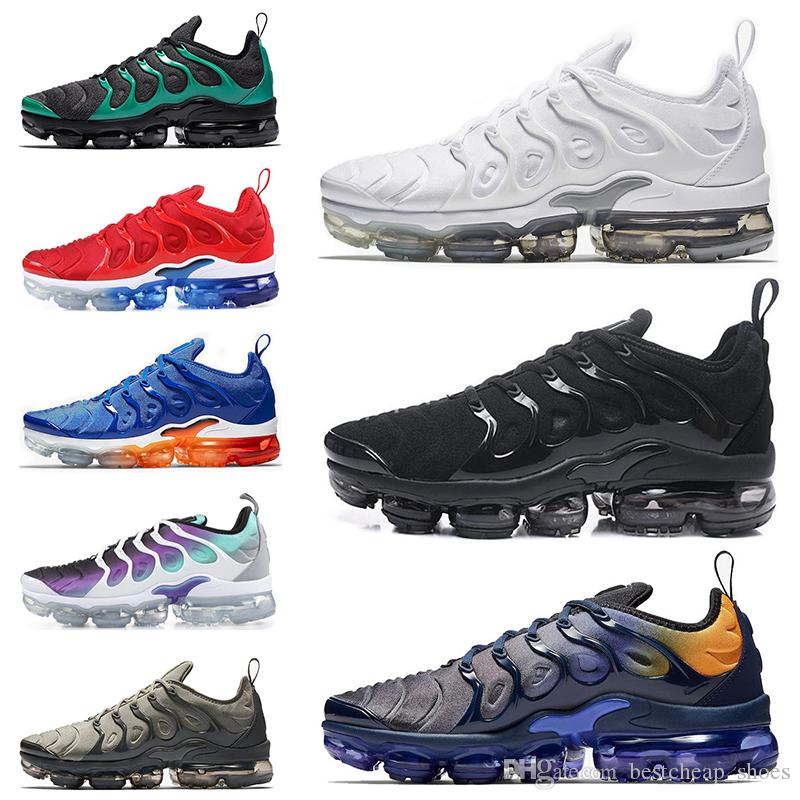 finest selection 9de8e 055f6 Nike Air Vapormax Plus 2019 New Vapors TN Plus TNs Zapatillas Para Hombre  Hyper Blue Rainbow Juego Royal Smokey Malva STRING Maxes Sports Hombre  Zapatillas ...