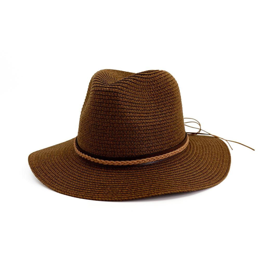 44a35ba2881 Summer Fashion Joker Straw Hat Sun Hat Solid Color Casual Beach For ...