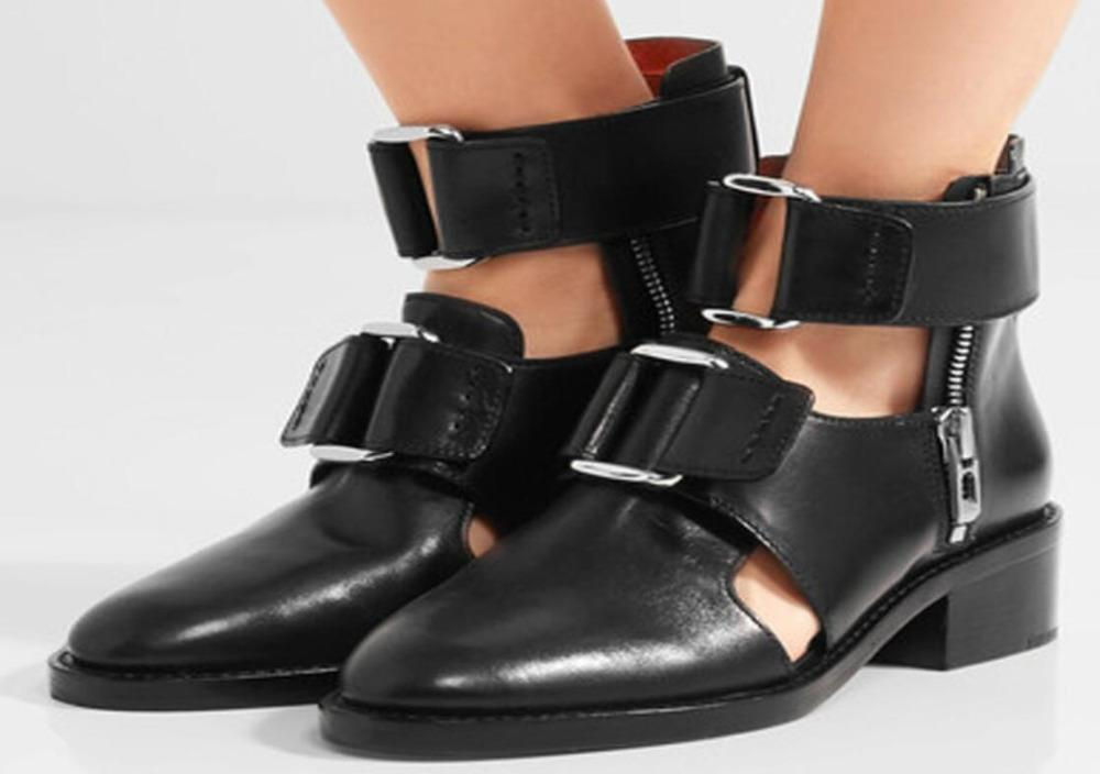 3d8a7be5e21a Classic Buckles Sandals Mens Leather Pointy Toe Gladiators Sandal Male Cut  Out Breathable Buckle Roman Sandals Shoes Black Shoe Shop Cute Shoes From  ...