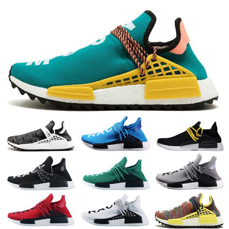 e9fbd79ebaa 2019 2019 NMD Human Race Mens Running Shoes With Box Pharrell Williams  Sample Yellow Core Black Sport Designer Shoes Women Sneakers 36 45 From ...