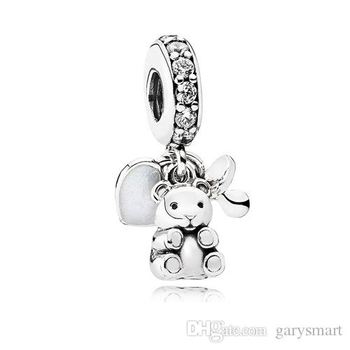 58a84546d34 Authentic 925 Sterling Silver Beads Cute Panda Charm Charms Fits European  Pandora Style Jewelry Bracelets & Necklace 796256ENMX Silver Pendant  Jewelry ...