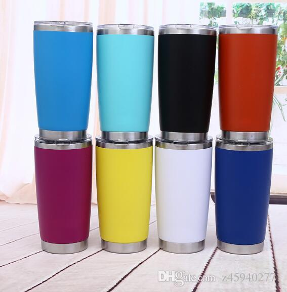 Mug For 20oz Steel Bottle With Cups Mugs Lid Cup Travel Coffee Beer Drinkware Water Stainless Car Owkn0P