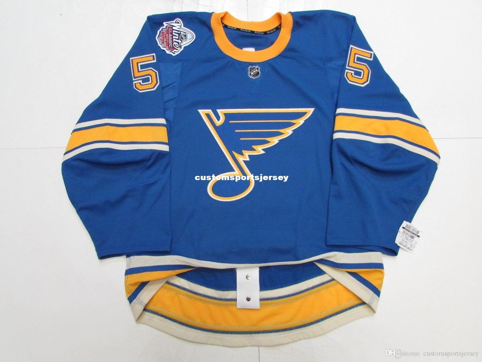 online store 3846b 46097 Cheap custom Colton Parayko ST. LOUIS BLUES 2017 WINTER CLASSIC TEAM JERSEY  stitch add any number any name Mens Hockey Jersey XS-5XL