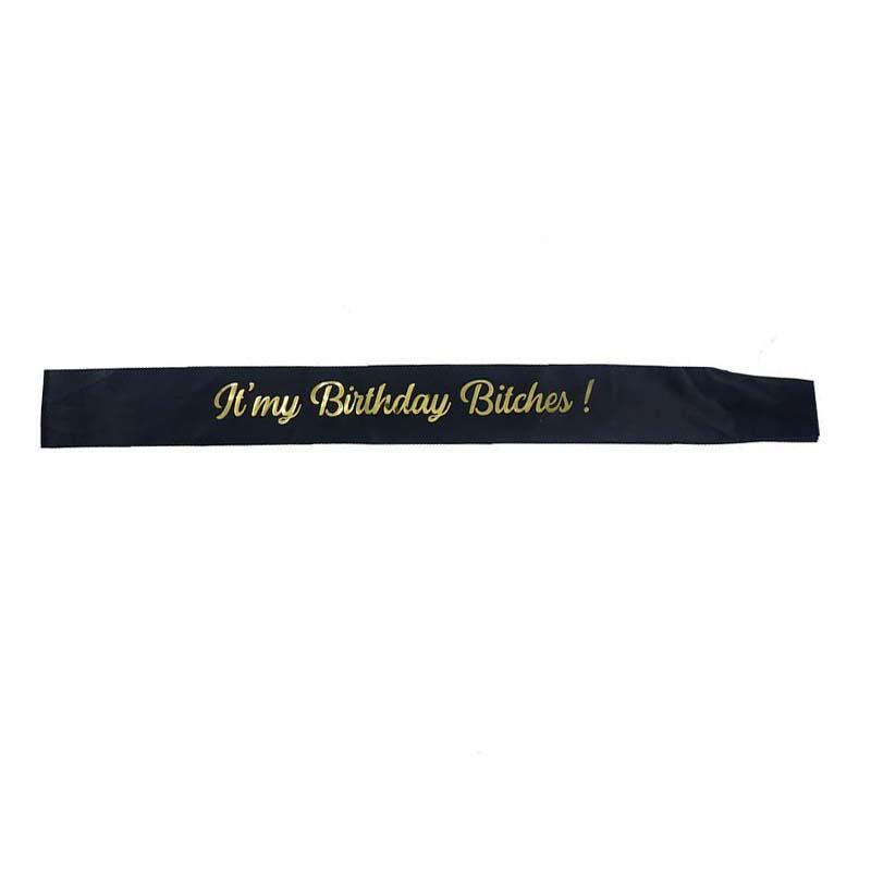 Or Glitter C'est Mon Anniversaire Bitches Drôle D'anniversaire Ceinture Pour Les Femmes 30 Anniversaire Fête Décoration Fournitures Favor Cadeaux