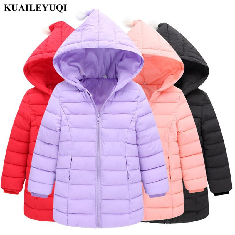 Girls Winter Coats And Jackets Children Girls Parka Spring Autumn Warm Girls Clothes Childrens Hand Cotton Padded Clothes Outerwear & Coats