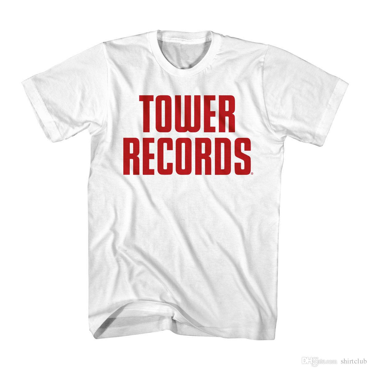 af9f110d Tower Records Music Franchise Big Letter Logo Adult T Shirt T Shirt Men  Man'S Fabulous Short Sleeve Cotton Custom Plus Size Couple T Shirts For  Sale Printed ...