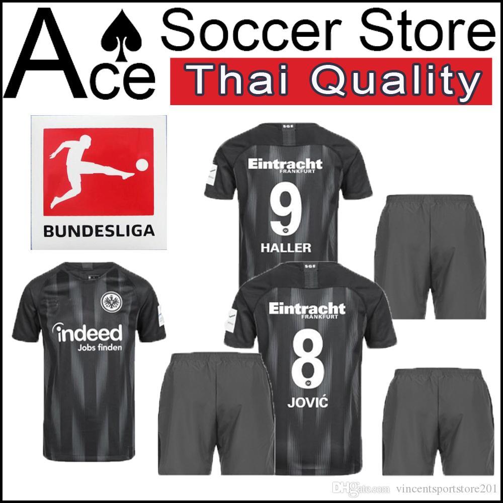 52c63151a 2019 18 19 Eintracht Frankfurt Adult Suit Home Black SHIRT CUSTOMIZE 2018  2019 Soccer Jersey 27 Muller 9 Haller 4 Rebic 8 Jovic Football Shirts From  ...