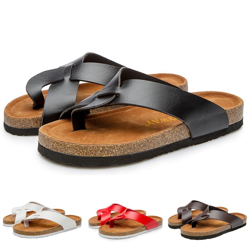 71ce734eb47a5 2019 Women S Slippers Summer Beach Casual Shoes Rome Wooden Wimen Flat Heel  Beach Anti Slip Flip Flops Slipper Platform Slides Thigh High Boots Booties  From ...