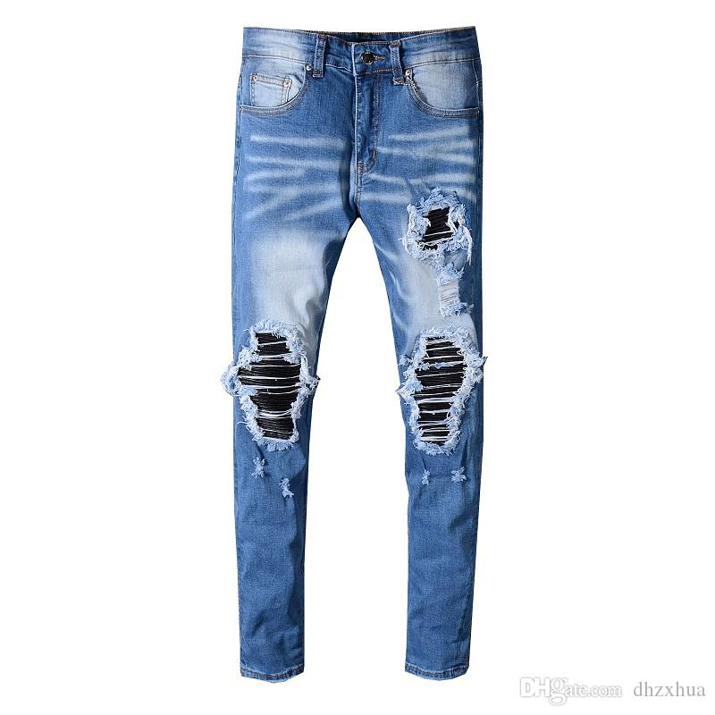 bced7abd 2019 2019 Men'S Distressed Ripped Skinny Biker Jeans VINTAGE Brand Designer  Slim Mens Motorcycle Moto Denim Jeans Shorts Hip Hop Pants 562 From  Dhzxhua, ...