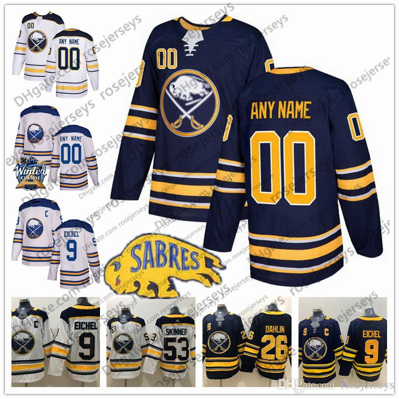 48e42d2a0cc ... ireland 2019 custom buffalo sabres winter classic jerseys any number  name men women youth kid white
