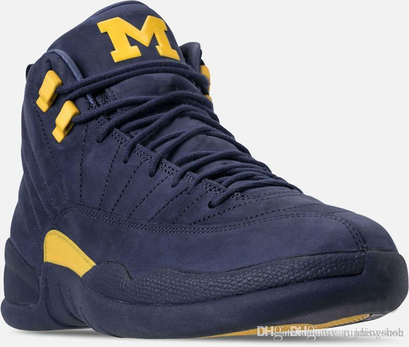 288a201e02ef97 2019 2018 Hottest 12 RTR MICHIGAN NRG MICHIGAN X PSNY 12S Basketball Shoes  For Men Carbon Fiber Sneakers With Box BQ3180 407 From My runningshoe