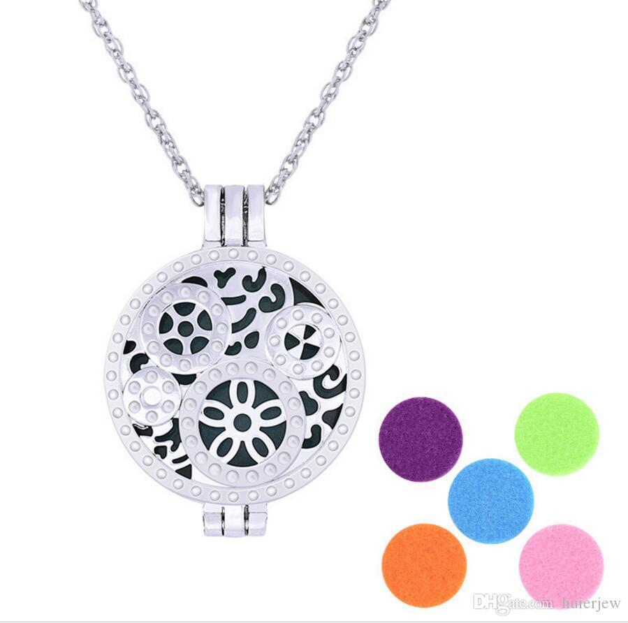 Aroma jewelry Locket Necklace Stainless Steel Pendant Magnetic butterfly Diffuser Randomly With Felt Pads Diffuser Necklaces