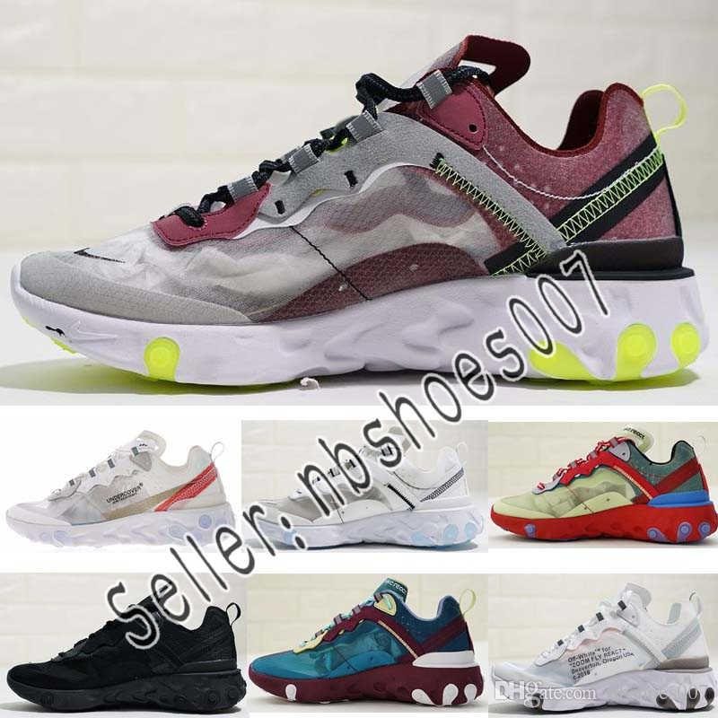 f0625ecd4938 Epic React Element 87 Running Shoes For Men Women White Black NEPTUNE GREEN  Blue Mens Trainer Designer Breathable Sports Sneakers Euro 36 45 Sneakers  Sale ...