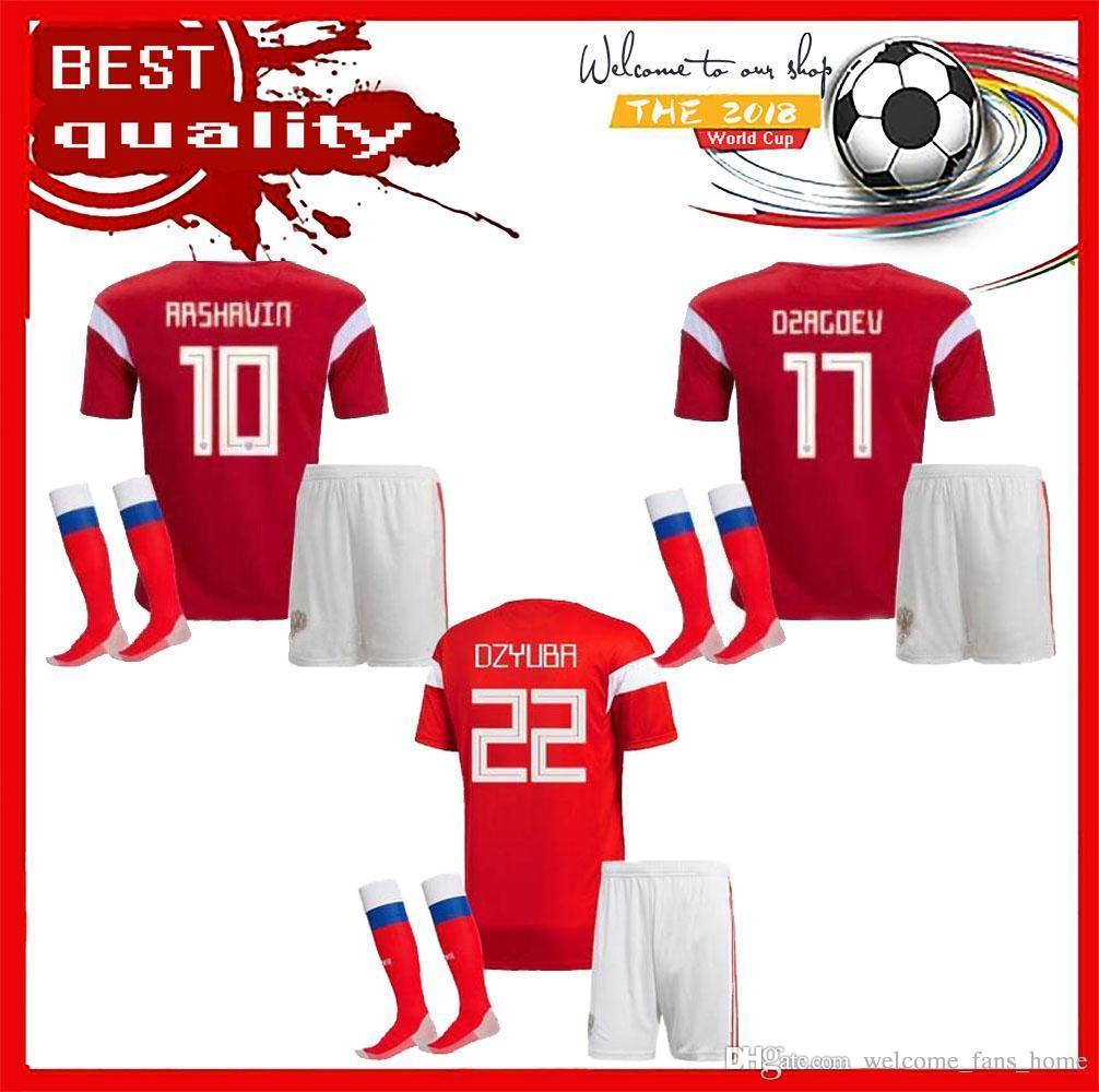 2019 Adult Kits 2018 World Cup Russia Kits Soccer Jersey Russian Home Red  DZAGOEV KOKORIN GLUSHAKOV SMOIOV KUZIAEV VRSIN ZHIRKOV Football Uniform  From ... d6edb32af