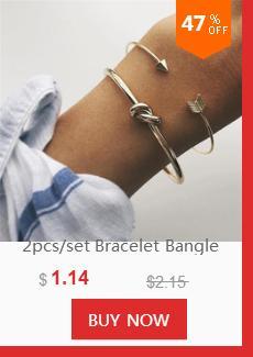 2-4 Pz / set Retro Bracciali Oro Argento Hollow Bowknot Lettere Freccia regolabile Bracciale da donna Accessori da sposa feste