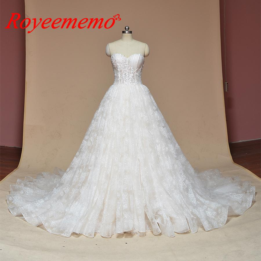 510078735d 2019 Glitter shinniy pizzo abito da sposa gonna a-line scintilla abito da  sposa su misura abito da sposa abito da sposa prezzo all ingrosso