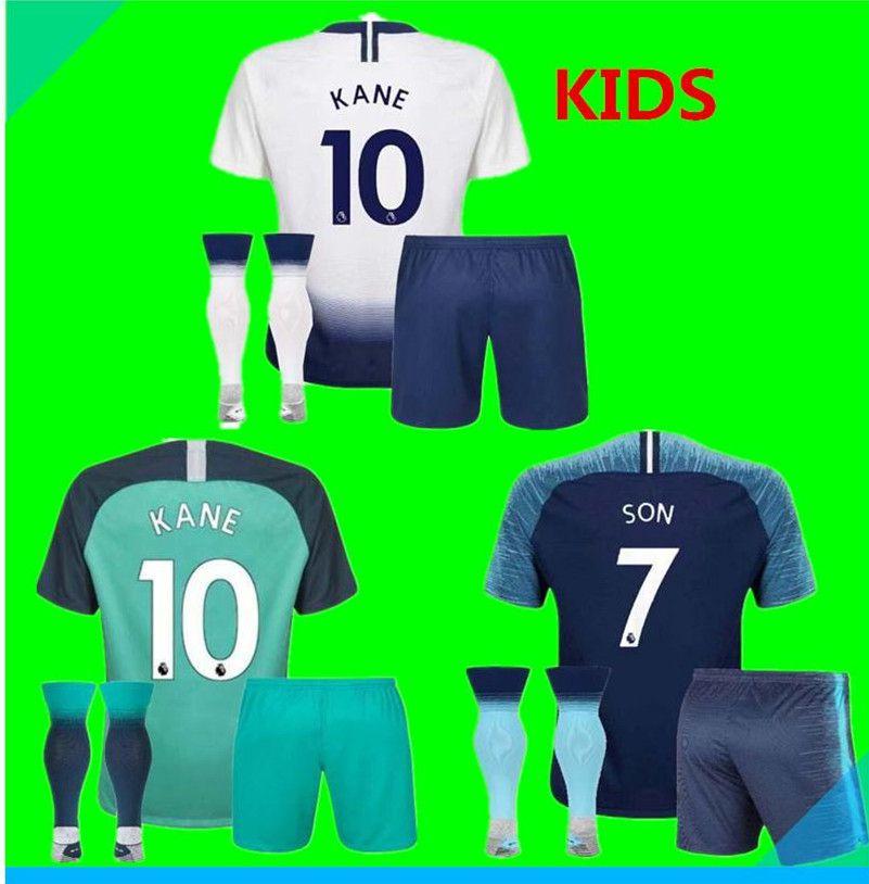 18 19 Tottenhames Kids Home Soccer Jersey Kits 2018 2019 Spurs Dier ... 990cc5446
