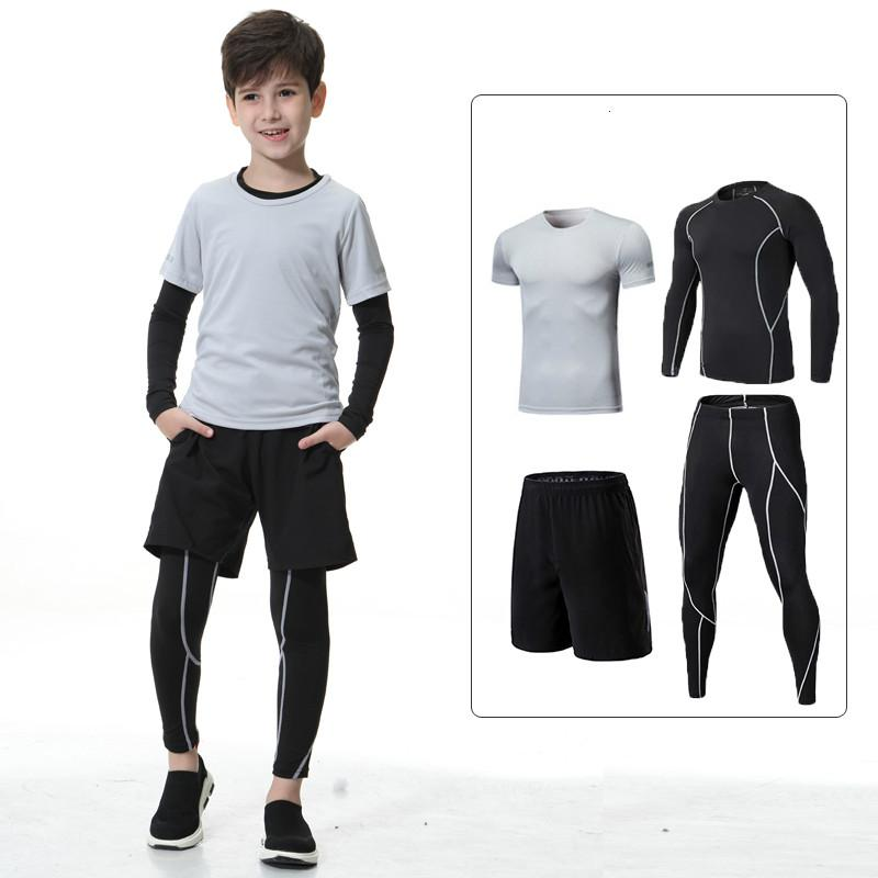 27b4cce2a 2019 Kids Sports Suit Tight Clothes Children Running Fitness Clothing  Basketball Compression Sportswear Workout Jogging Sports Kit From  Vanilla12, ...