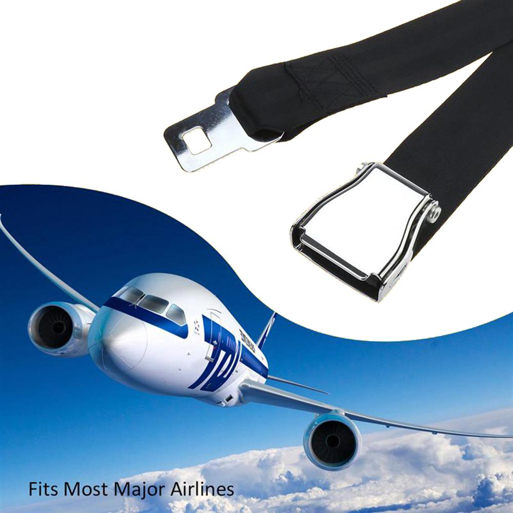 SITAILE Airplane Seat Belt Extender Universal 25-80cm Safety Belt Black Handy Airplane Seat Extender Fits All Airlines