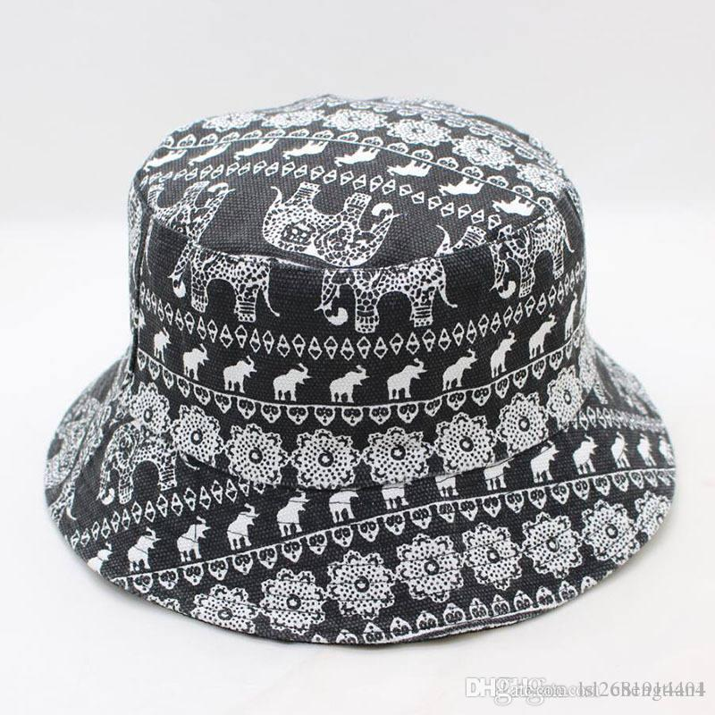 7df7b5b0599d5 LDSLYJR Elephant Animal Print Bucket Hat Fisherman Hat Outdoor Travel Hat  Sun Cap Hats For Men And Women 268 Cowgirl Hats Fishing Hats From  Lsl2681914404