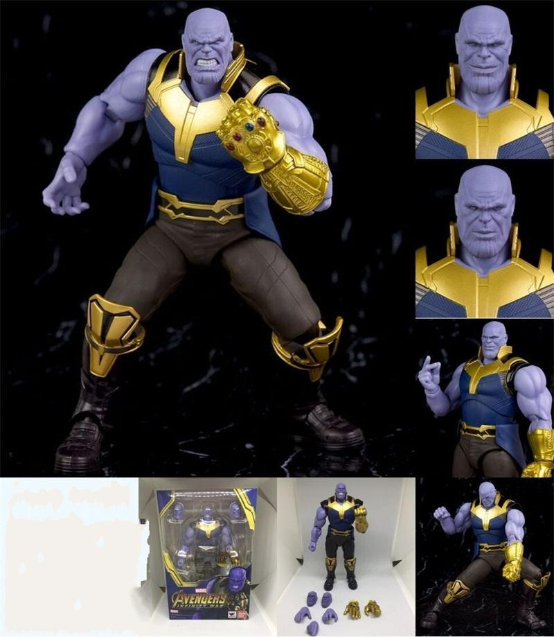 Cinco Estrelas Anime Homem De Ferro Figura Infinita Guerra Os Vingadores Thanos Modelo Kid Doll Toy PVC Presentes Do Partido 100 hj C1