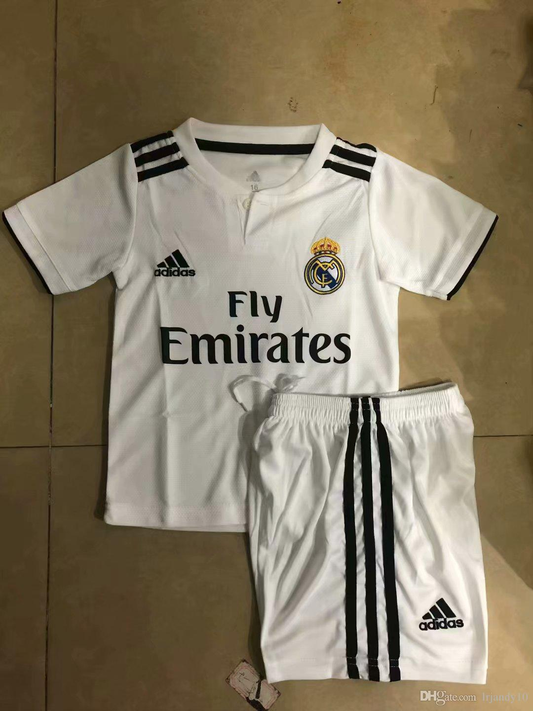 8f057a14b 2019 Real Madrid Jersey 2018 2019 MODRIC Marcelo Kids Football Shirt BALE  ASENSIO Third Kit Soccer Jersey With Sock From Lrjandy10
